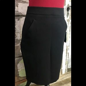 DKNY Suiting Black Pencil Skirt with Pockets